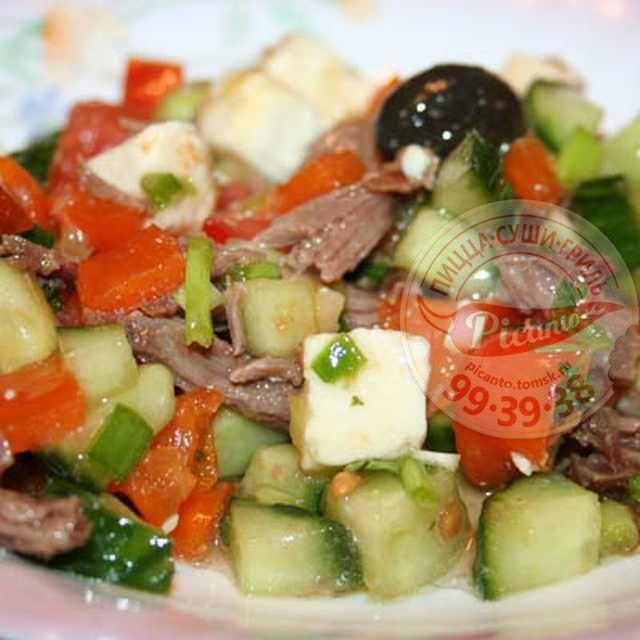 Салат греческий с говядиной рецепт
